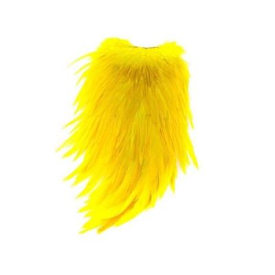 Barvený sedlový kohoutí skalp Yellow
