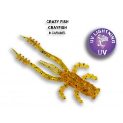 Crazy Fish Crayfish 75mm - 09 Caramel příchuť oliheň 7ks