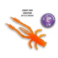 Crazy Fish Crayfish 75mm - 64 Fluo orange příchuť oliheň 7ks