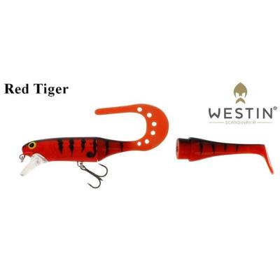Westin Jätte TeezTail 140mm 29g Floating Red Tiger