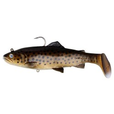 Ripper Savage Gear 3D Trout Rattle Shad 17cm Dark Brown