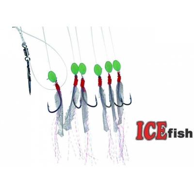 ICE fish - treskový návazec barevná peříčka B