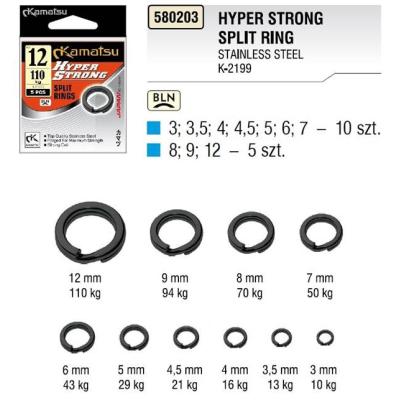 Pevnostní kroužky Kamatsu Hyper Strong vel. 6 - 43kg