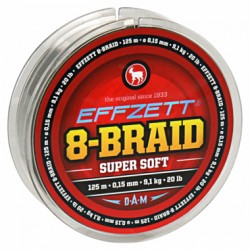 Pletená šňůra DAM Effzett 8 - Braid SUPERSOFT 125m 0,20mm 125m