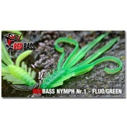 RedBass Nymfa Nr. 1 - Fluo/Green - 5ks