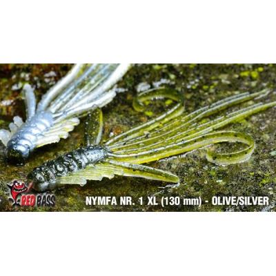 RedBass Nymfa Nr. 1 XL- 130mm - brown/silver